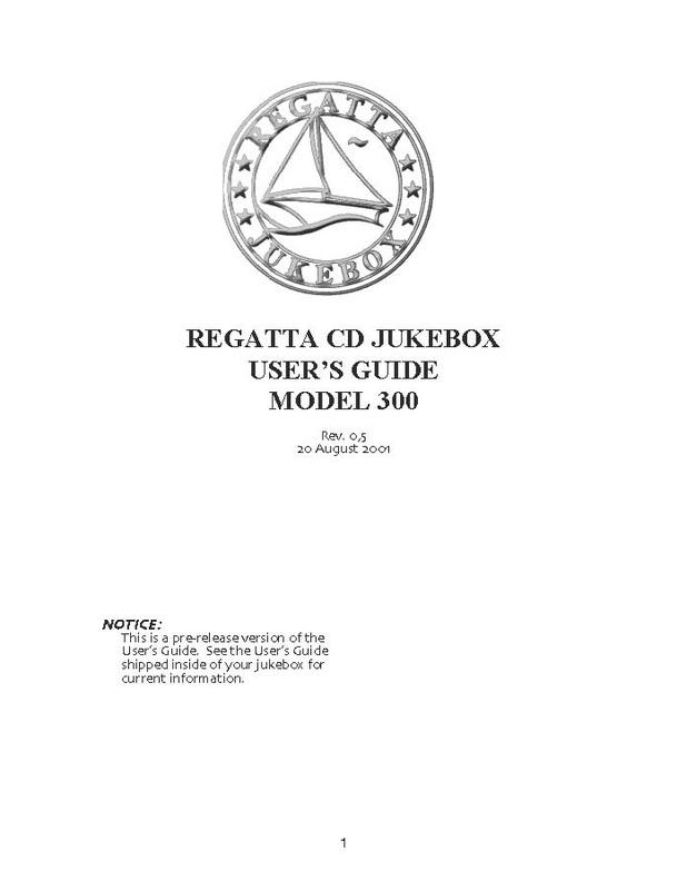 Regatta Jukebox Manual